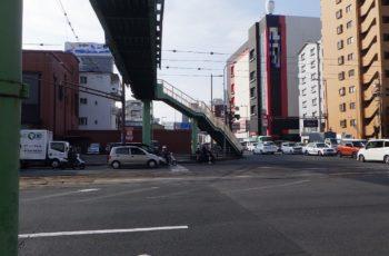 横断歩道橋の階段付替設計