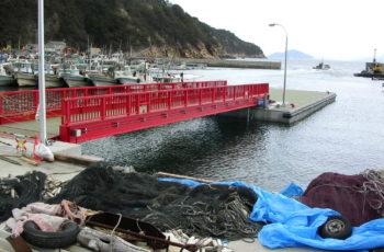 浮桟橋詳細設計(漁港 L20m×B8m×H2.1m)※チェーン係留