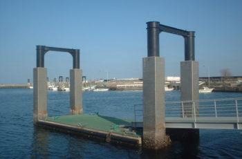 浮桟橋詳細設計(漁港 L20m×B6m×H2.0m)