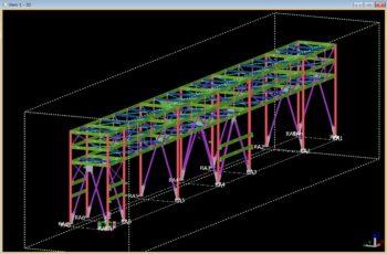 工場内設備(パイプラック)の3D詳細設計