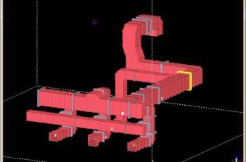 工場内設備(大型ダクト)の3D詳細設計