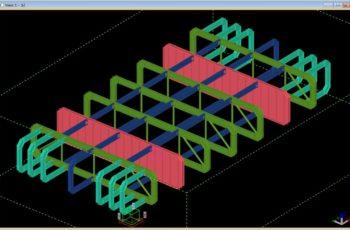 浮体構造物 鉄骨部の3D詳細設計